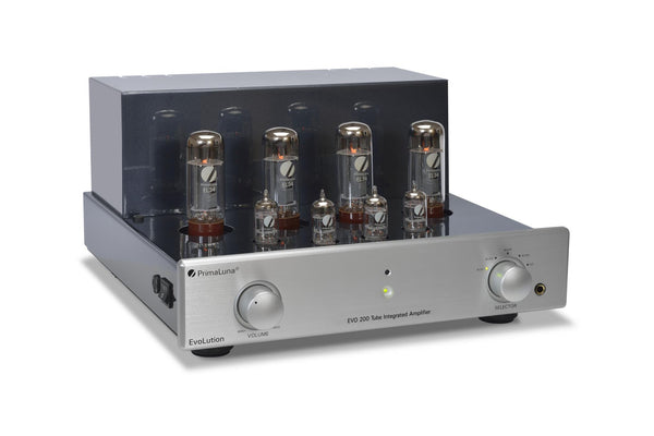 PrimaLuna EVO 200 Tube/Valve Integrated Amplifier - Evolution Front Iso No Cage - Douglas HiFi