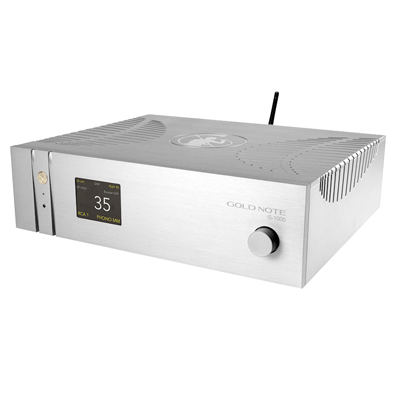 Gold Note IS-1000 Silver Deluxe Super Integrated Amplifier - Douglas Hifi
