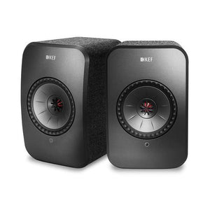 KEF LSX Active Wireless HiFI Speakers BLACK | Douglas HiFi