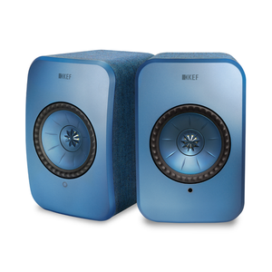 KEF LSX Active Wireless HiFI Speakers BLUE | Douglas HiFi