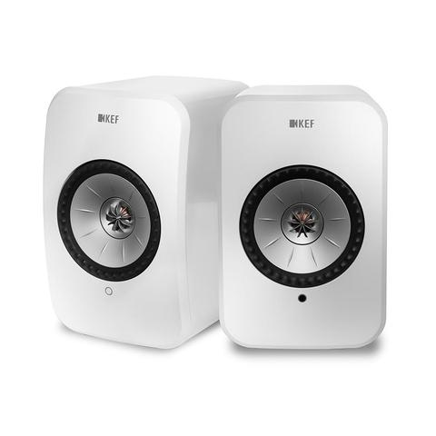 KEF LSX Active Wireless HiFI Speakers WHITE | Douglas HiFi