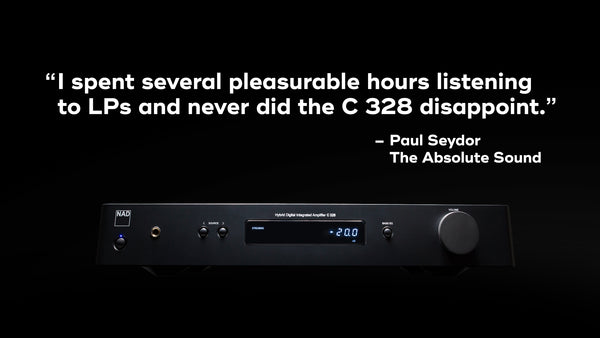 NAD C328 Integrated Amplifier with DAC and Phono Stage (review blurb) | Douglas HiFi