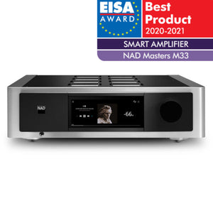 NAD M33 Streaming Amplifier EISA award - Douglas HiFi Perth