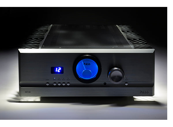PASS Labs INT60 Integrated Amplifier (front) | Douglas HiFi Perth