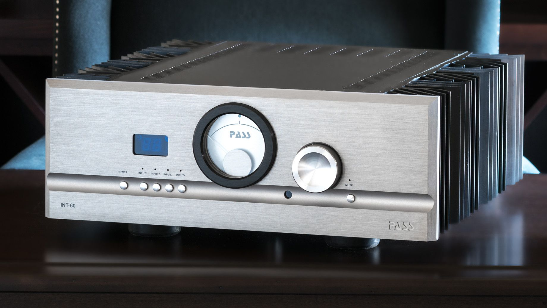 PASS Labs INT60 Integrated Amplifier (front 2) | Douglas HiFi Perth
