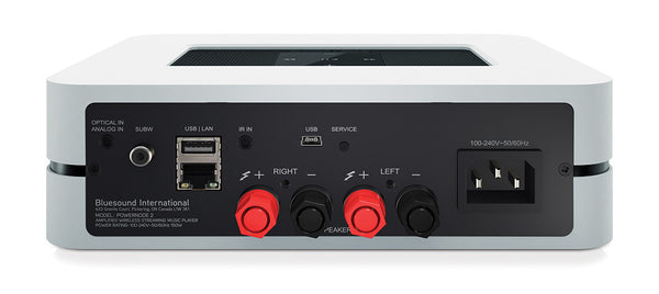 Bluesound PowerNode 2 Hi-Res Streamer/DAC (rear) | Douglas HiFi