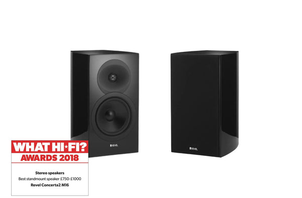 Revel Concerta2 M16 Award Winning Bookshelf HiFi speakers (Black) | Douglas HiFi