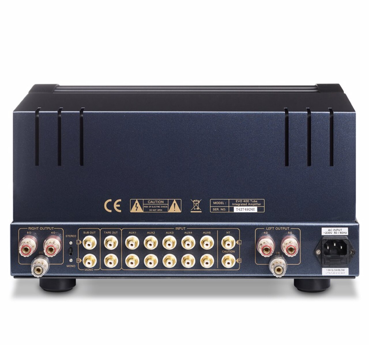 PrimaLuna EVO 400 Integrated Valve/Tube Amplifier (Rear) | Douglas HiFi