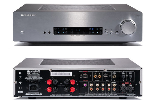 Cambridge Audio CXA80 HiFi Amplifier with Analogue and Digital Inputs (front and rear) | Douglas HiFi