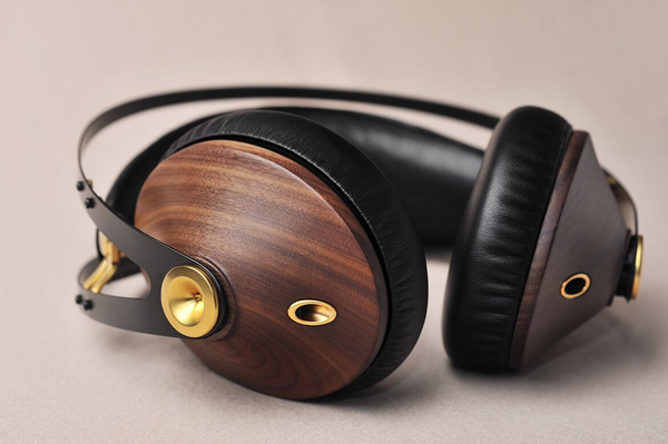 Meze 99 Classics (Walnut Gold) - Award Winning Wood Ear cup Headphones | Douglas HiFi