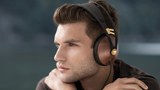 Meze 99 Classics (Walnut Gold) - Award Winning Wood Ear cup Headphones (lifestyle) | Douglas HiFi