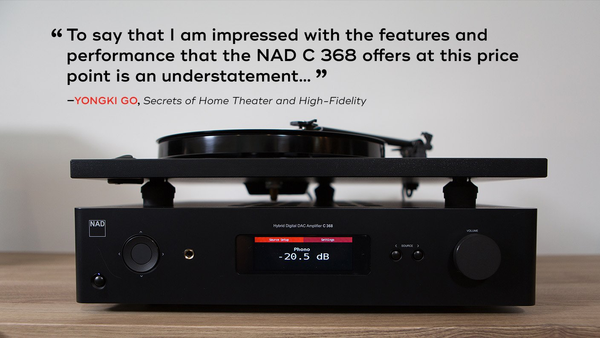 NAD C368 Integrated Amplifier (review quote) | Douglas HiFi
