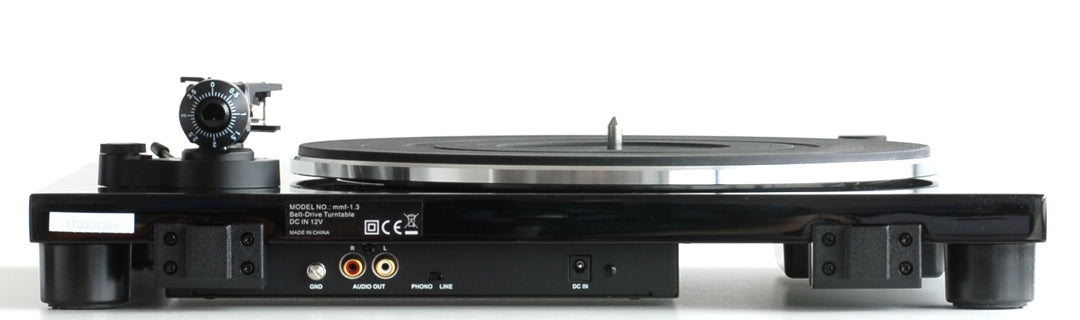 Music Hall mmf-1.3 turntable side view - Douglas HiFi