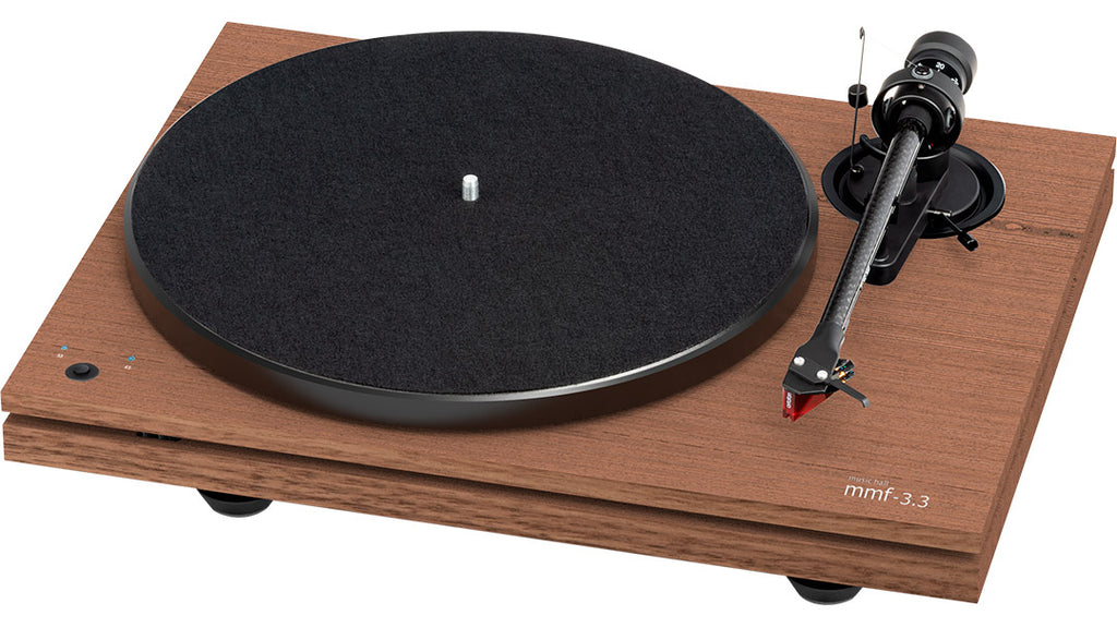 Music Hall mmf-3.3se turntable walnut - Douglas Hifi