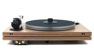 Music Hall mmf-7.3se walnut turntable back - Douglas Hifi