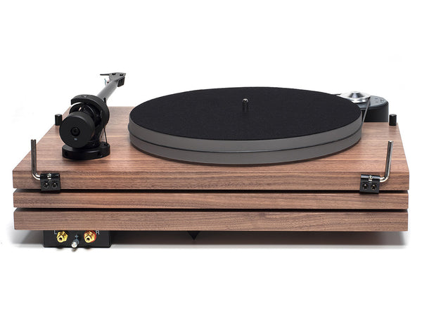 Music Hall mmf-9.3se walnut turntable back - Douglas Hifi