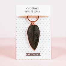 Load image into Gallery viewer, Calathea White Star Keychain