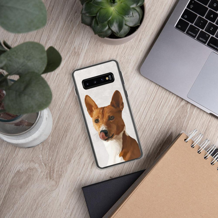 Le Coloré - Coque Samsung Personnalisé coque One of a Pet Galaxy S10 Marbre