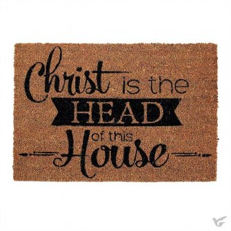 Deurmat - Christ is the head of this house - 40x60cm