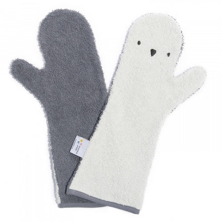 Baby Shower Glove Penguin - Donker/Licht