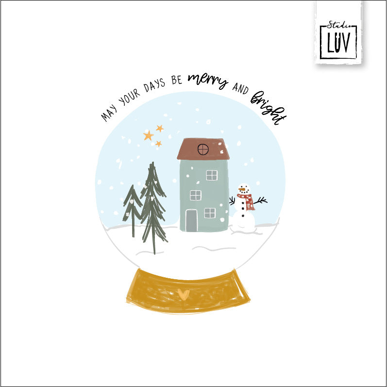 LUV/Baaij Kerstkaart - Merry and bright