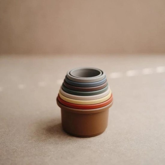 Mushie Stacking Cups - Stapeltoren - Retro