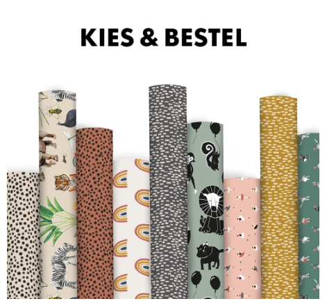 House of Products - Rolletje inpakpapier - Big Confetti - Terra
