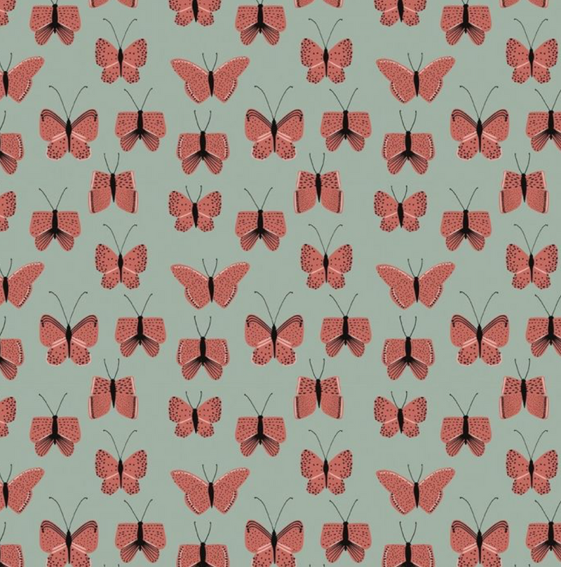House of Products - Rolletje inpakpapier - Butterfly Red