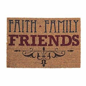 Deurmat - Faith Family Friends - 40x60cm