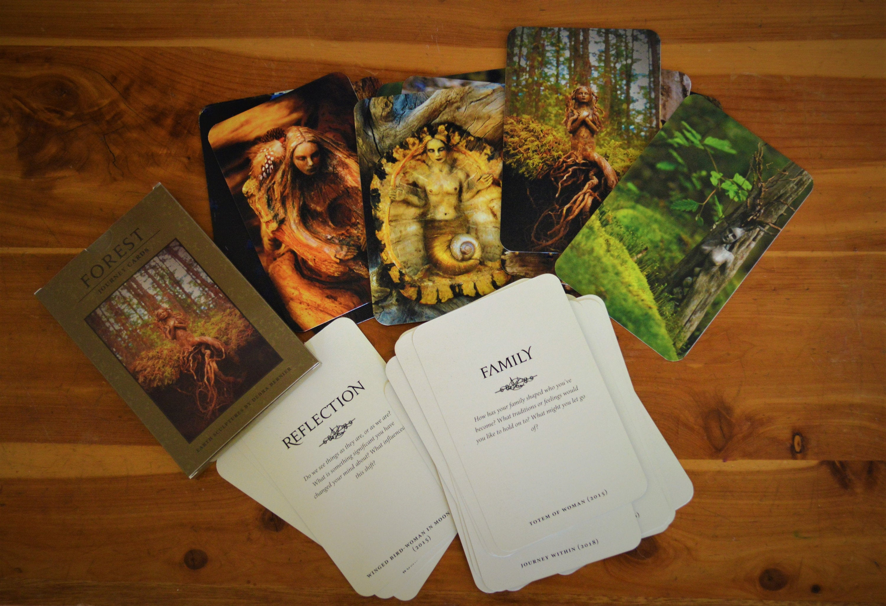 THREE Journey Cards, Forest Decks, Art Collection with Guidance Questions
