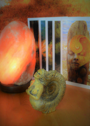 Combo Deal, Ammonite Woman & 5 Art Cards, Ancient Spirits