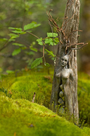 #25 - Spirit Tree Woman with Stones Art Card