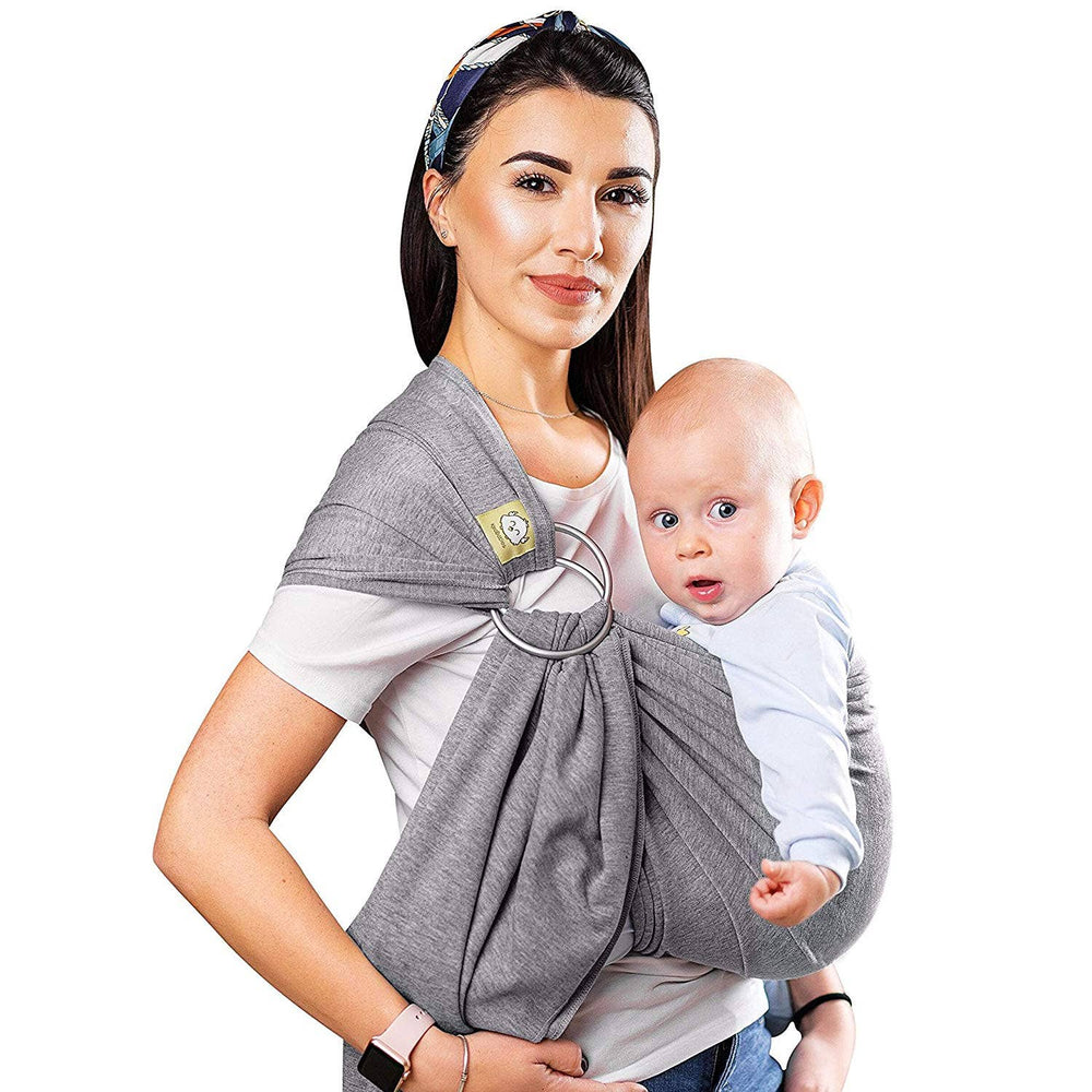 Baby Ring Sling & Wrap Carrier (Classic Gray)