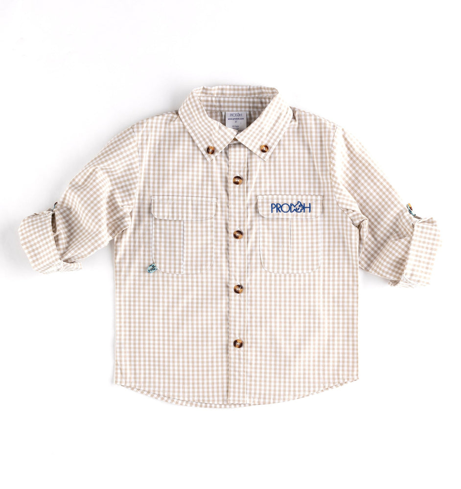 Prodoh Gingham Button Down (OYSTER)