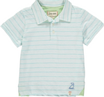 Aqua/White Cotton Club Polo