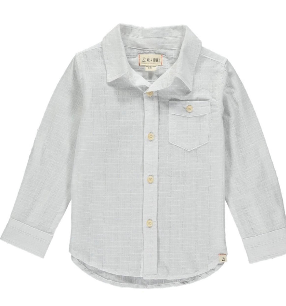 White Dad Linen Button Up