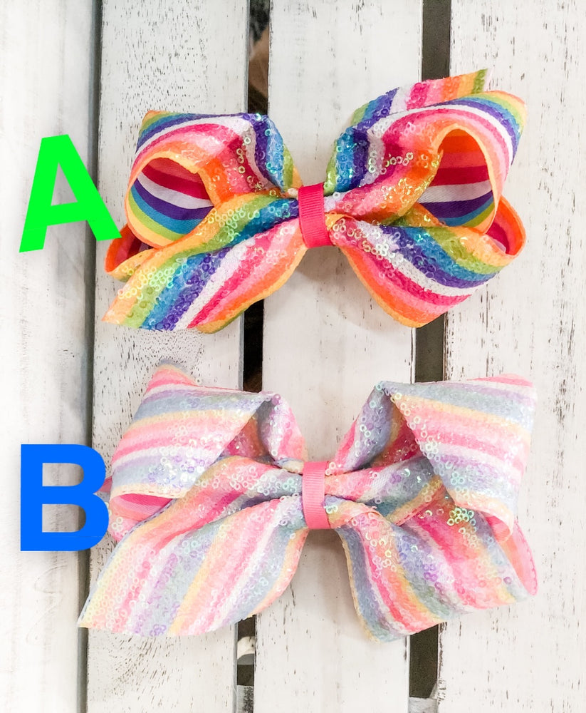 Sequin Striped Bows