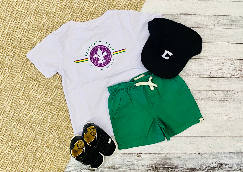 Properly Tied Mardi Gras Tee