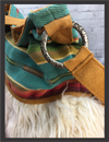 Handbag - Serape Bucket Bag Turquoise