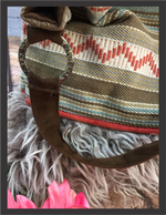 Handbag - Serape Bucket Bag Olive