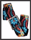 Belt - Black Bird Floral Embroidered
