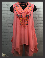 AB Coral Sleeveless Tunic