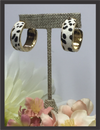Earrings - Cheetah Print Half Hoop