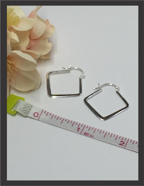Earrings - Sterling Silver Hoop E5008