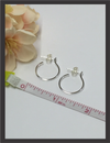 Earrings - Sterling Silver Hoop E5154