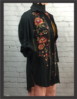 CK Black Embroidered Tunic