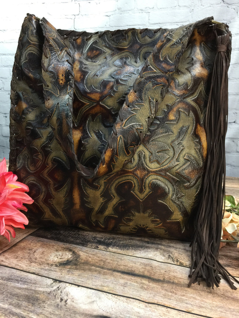 Handbag - Cripple Creek Embossed Leather - Large