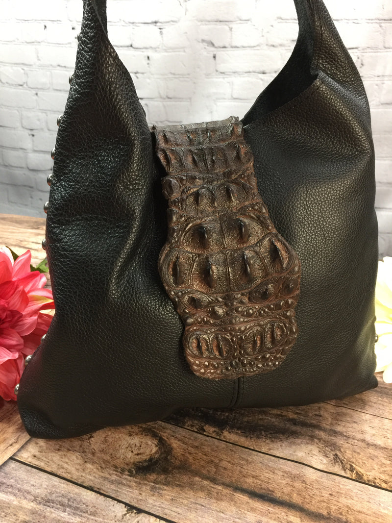 Handbag - Cripple Creek Alligator Flap Shoulder Bag