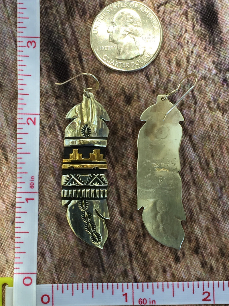 Earrings - Tommy and Rose Singer (Feather)