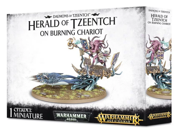 Daemons Of Tzeench Herald On Burning Chariot